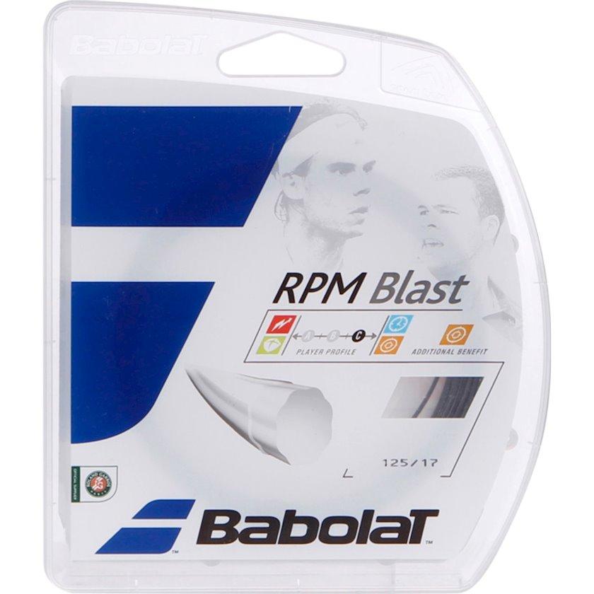 Raketlər üçün tenis simi Babolat RPM Blast 16 Gauge Black, Qalınlıq 1.25 mm, Uzunluq 12 m