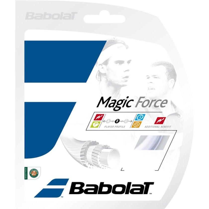 Raketlər üçün tenis simi Babolat Magic Force J 135 White, Qalınlıq 1.35 mm, Uzunluq 12 m