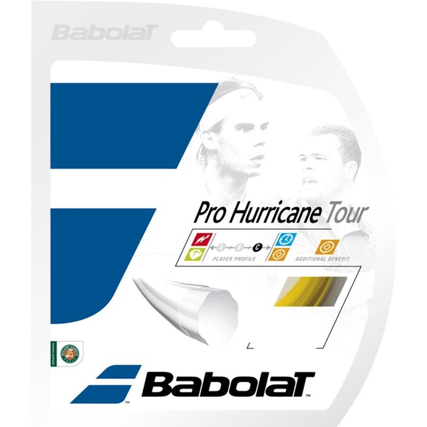 Raketlər üçün tenis simi Babolat Pro Hurricane Tour 17 Gauge Yellow, Qalınlıq 1.25 mm, Uzunluq 12 m