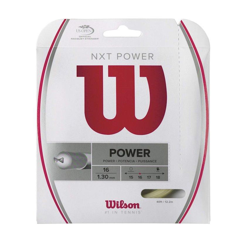 Raketlər üçün tenis simi Wilson NXT Power 16, Qalınlıq 1.30 mm, Uzunluq 12.2 m