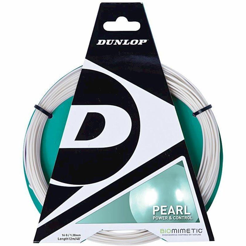 Raketlər üçün tenis simi Dunlop Pearl Tennis String Set 16g, Qalınlıq 1.30 mm, Uzunluq 12 m
