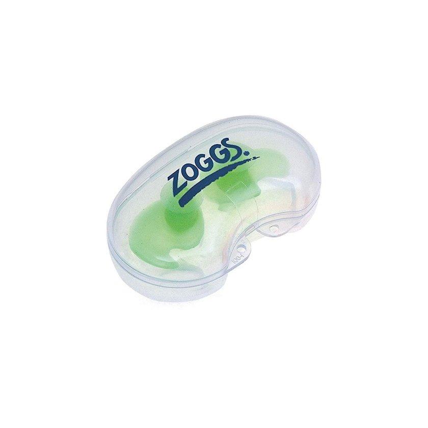 Qulaq tıxacı Zoggs Aqua Plugz Junior Green, Antiallergik silikon, Çexol dəstdə