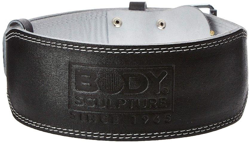 Ağır atletika üçün kəmər Body Sculpture Leather Fitness Belt, Uniseks, Dəri, Qara, M