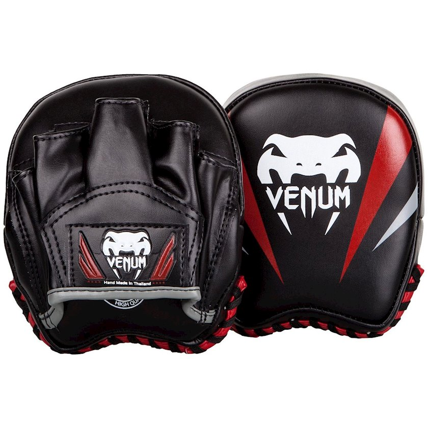 Boks pəncələri Venum Elite Mini Punch Mitts, qara/qırmızı
