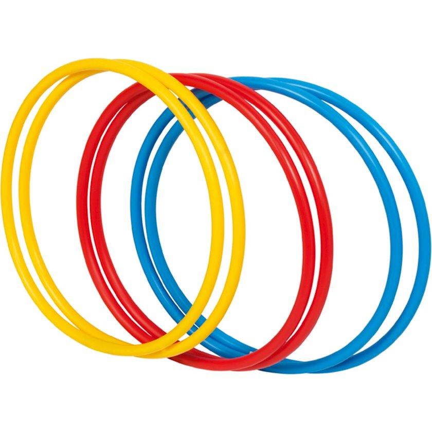 Gimnastik çənbər Athlitech CERCEAUX, Uşaqlar üçün, 50 sm, Sarı/Qırmızı/Göy