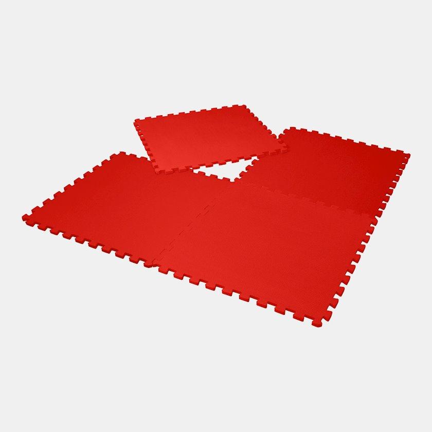Tatami Body Sculpture Protective Interlocking Mat, 1 plitka 60sm х 60sm х 12sm, 4 əd, polimer/köpük, qırmızı