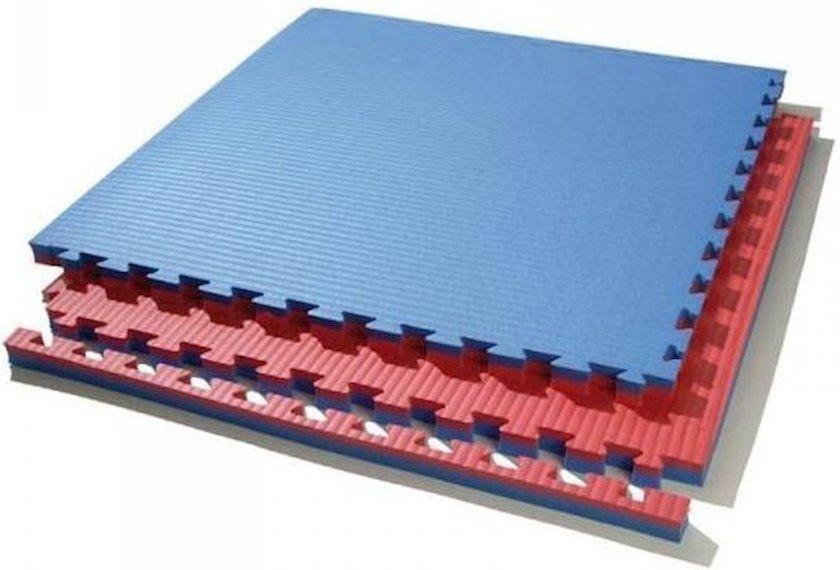 Tatami Toorx MAT 100sm x 100sm x 4sm, 12 əd, polimer/köpük, göy/qırmızı