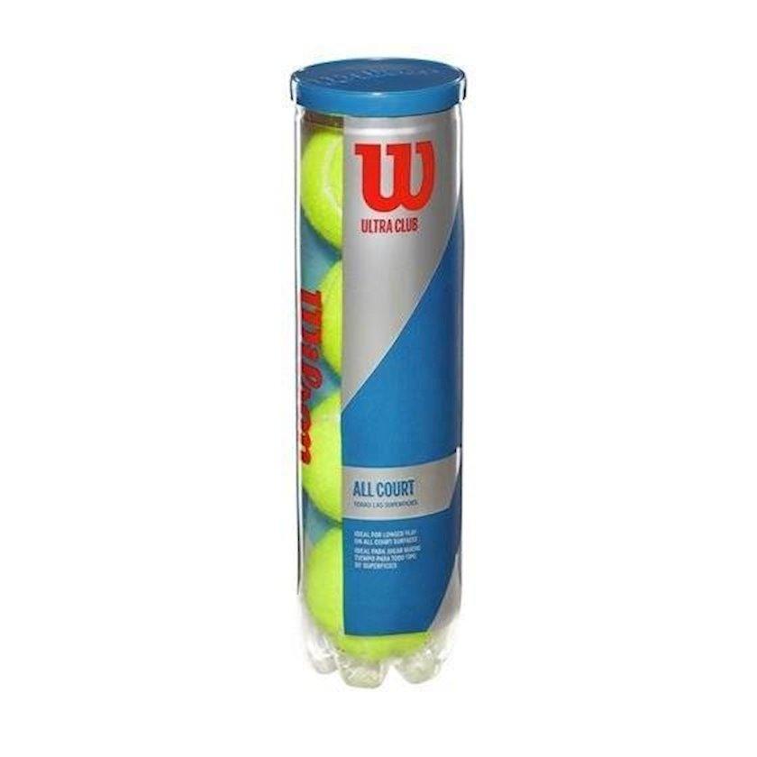Böyük tennis üçün top dəsti Wilson 1441724 ULTRA CLUB ALL COURT, 4əd, sarı
