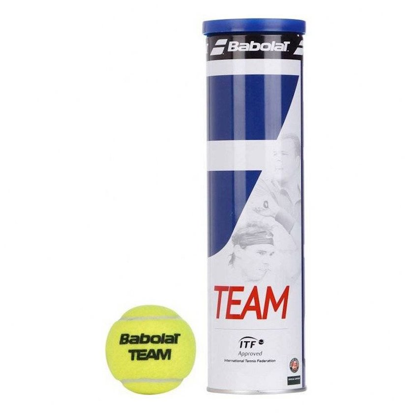 Böyük tennis üçün top dəsti Babolat 1056960 Team Racquet Tennis Balls Dozen, 4 əd, sarı