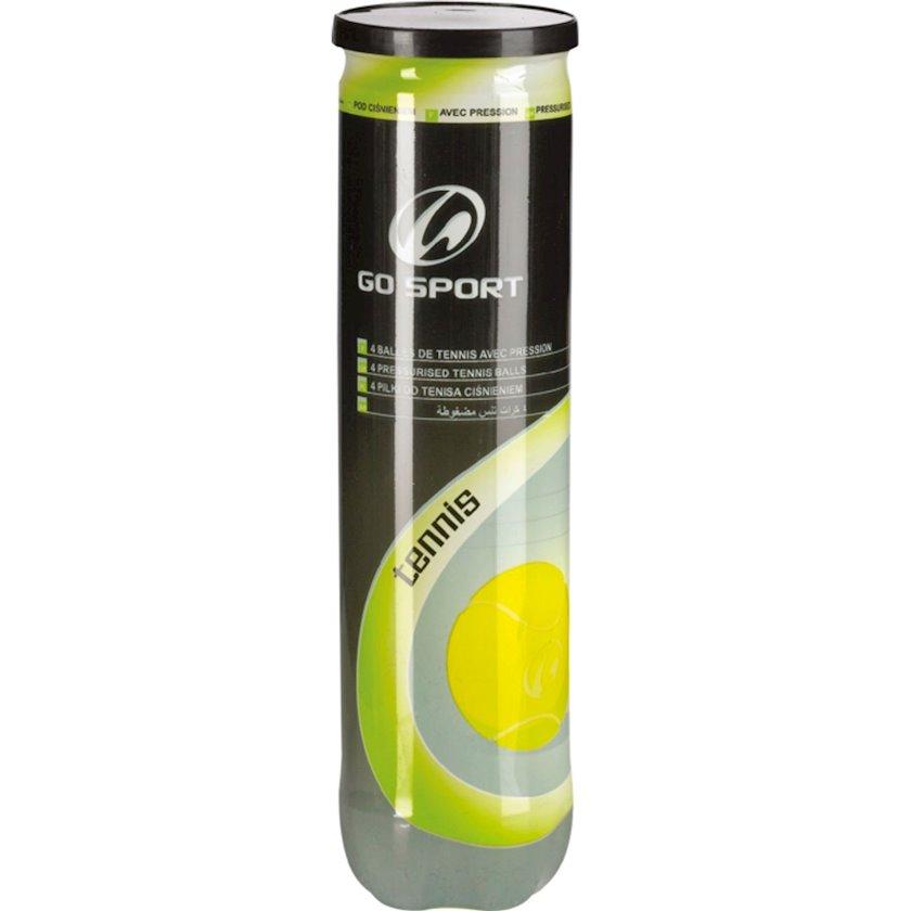 Böyük tennis üçün top dəsti ATHLI-TECH SOUS PRESSION, 4 əd, sarı