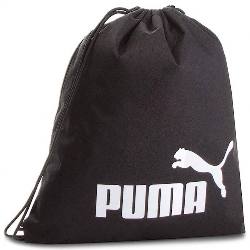 Ayaqqabılar üçün torba PUMA PHASE 74943 GYMSACK, Uniseks, Polyester, Qara
