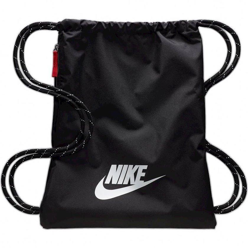 Ayaqqabılar üçün torba NIKE HERITAGE BA5901 GYMSACK, Uniseks, Polyester, Qara