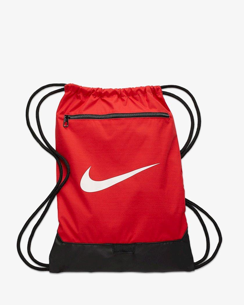 Ayaqqabılar üçün torba NIKE BRASILIA 9.0 BA5953 GYMSACK, Uniseks, Polyester, Qırmızı
