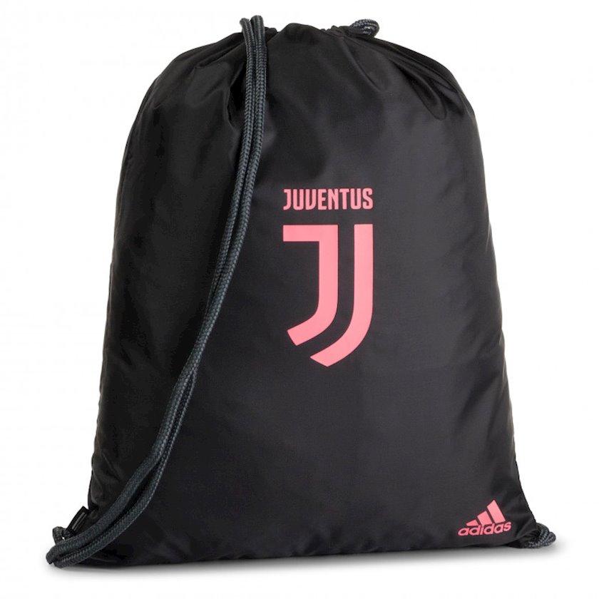 Ayaqqabılar üçün torba ADIDAS JUVENTUS DY7526 GYMSACK, Uniseks, Polyester, Qara