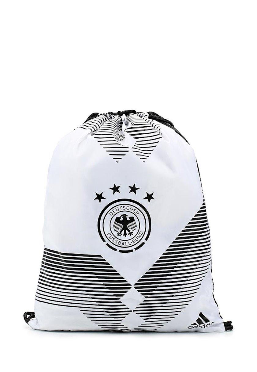Ayaqqabılar üçün torba ADIDAS GERMANY CF4939 GYMSACK, Uniseks, Polyester, Ağ/Qara