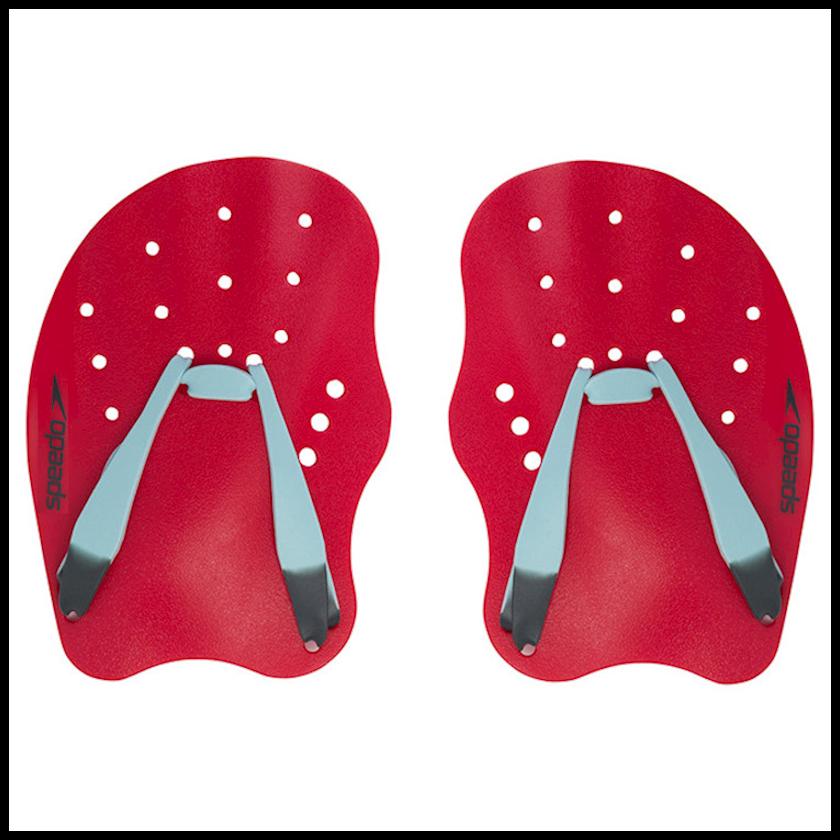 Üzgüçülük üçün üzgəc Speedo Tech Paddle, uniseks, qırmızı/boz, ölçü L