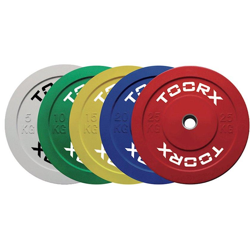 Disk Toorx Disco bumper challenge, 25kq, rezin, dəliyin diametri 50mm