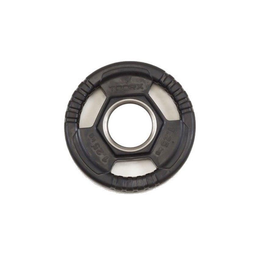 Disk Toorx Disc Rubberized Cast Iron, 1.25kq, çuqun, dəliyin diametri 50mm