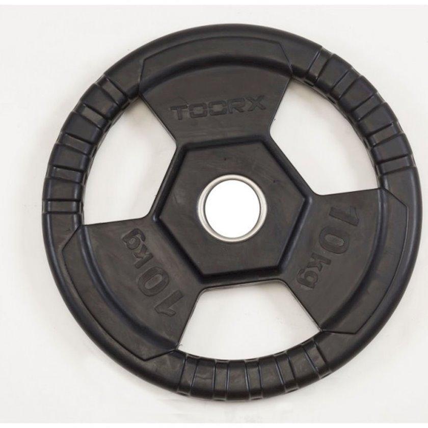 Disk Toorx Disc Rubberized Cast Iron, 10kq, çuqun, dəliyin diametri 50mm