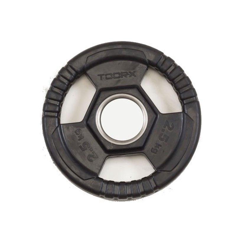 Disk Toorx Disc Rubberized Cast Iron, 2.5kq, çuqun, dəliyin diametri 50mm