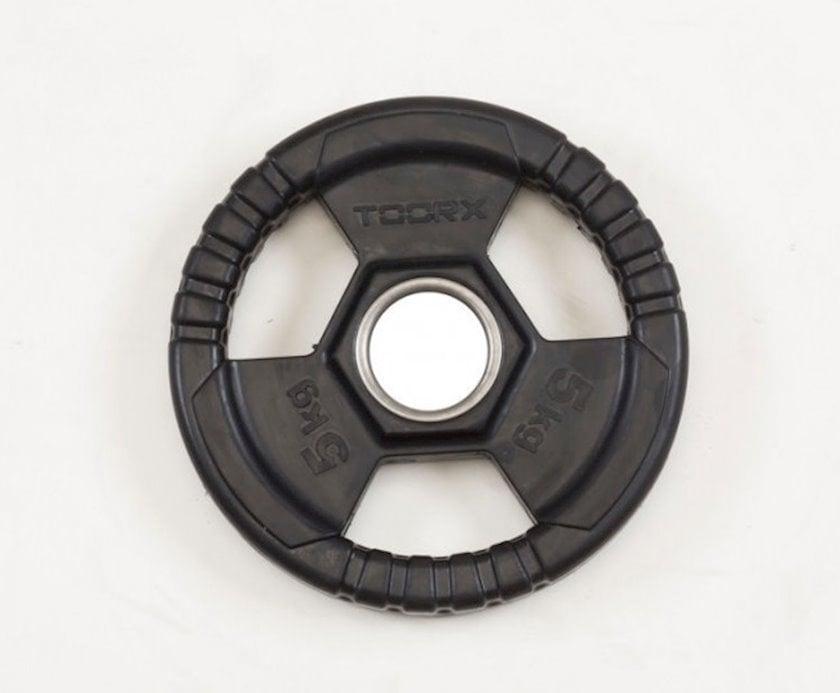 Disk Toorx Disc Rubberized Cast Iron, 5kq, çuqun, dəliyin diametri 50mm