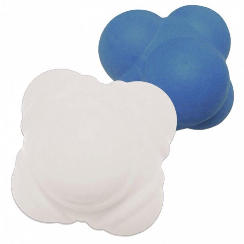 Massaj topların dəsti Kettler reaction ball set, Diametr 100/70 mm, Göy/Ağ