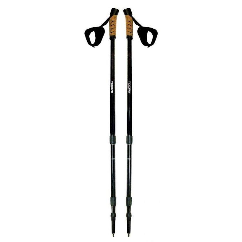 Skandinaviya yerişi üçün çubuqlar TOORX PAIR OF NORDIC WALKING STICKS, Hamı üçün, 2 əd, Qara, 634 qr
