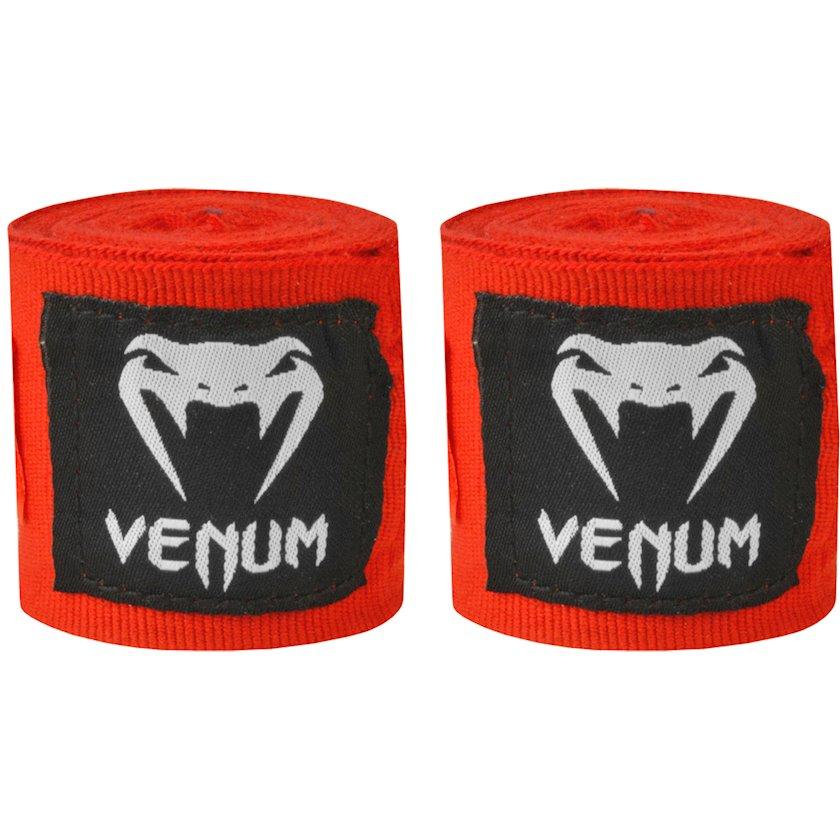 Boks üçün əl bandajı Venum Kontact, uzunluq 4 m, rəng qırmızı