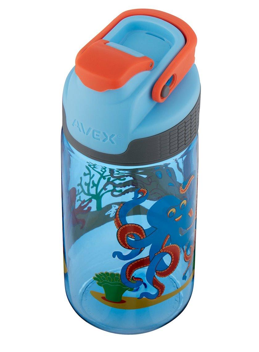 Butulka Avex Kids Freeride Octopus Autoseal Water Bottle, 473 ml, Mavi