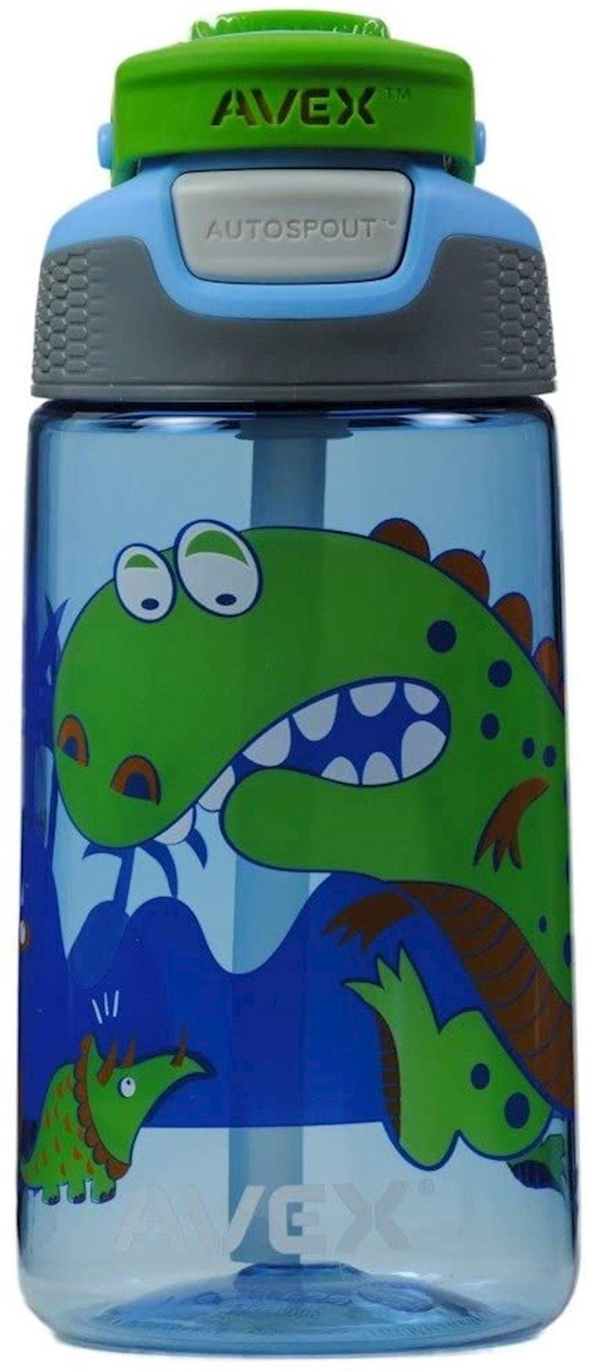 Butulka Avex Freestyle Dinosaur Water Bottle, 473 ml, Mavi