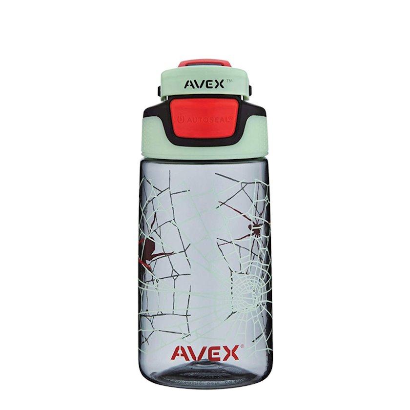 Butulka Avex Kids' Freeride Autoseal Charcoal Glow In Dark Water Bottle, 473 ml, Şəffaf/Qara