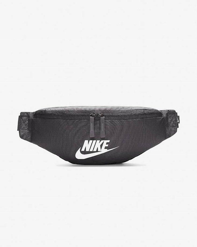 Kəmər çantası Nike BA5750-082 HERITAGE HIP PACK, uniseks, polyester, qara, 41x15x10sm