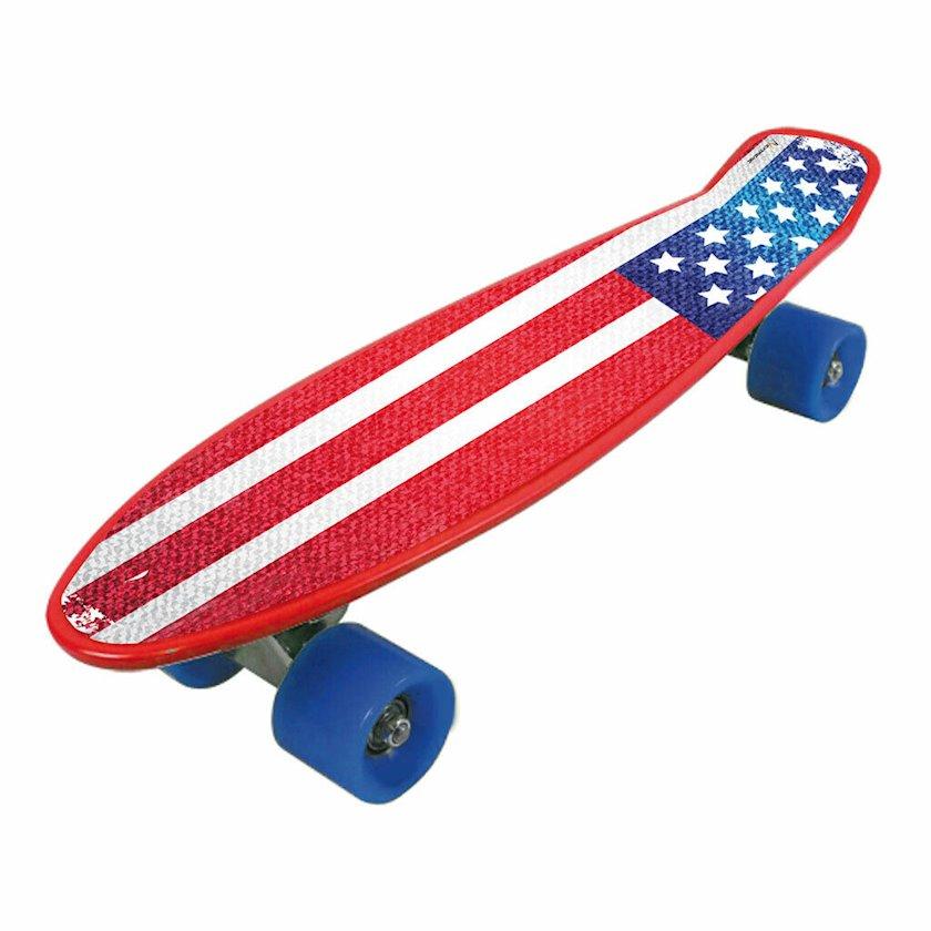 Skeytbord Nextreme Freedom pro USA FLAG, unisex, PVC/alüminium/poliuretan təkərlər, qırmızı/göy
