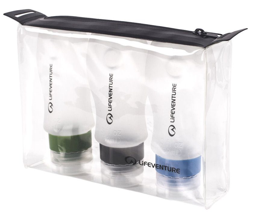 Dəst Lifeventure Silicone Flight Bottles - Pack of 3 Reusable 89 ml
