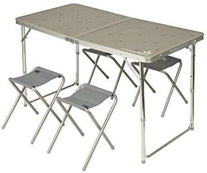 Qatlanan mebel dəsti Wanabee TABLE VALISE + 4 TABOURETS masa-çamadan + 4 stul , ölçülər 120 x 60 x 79 sm