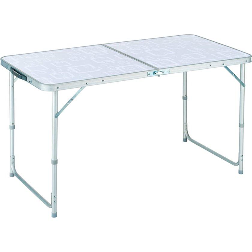 Kempinq üçün qatlanan masa-çamadan Trigano Table, açıq formada ölçülər 60 x 120 x 70 sm