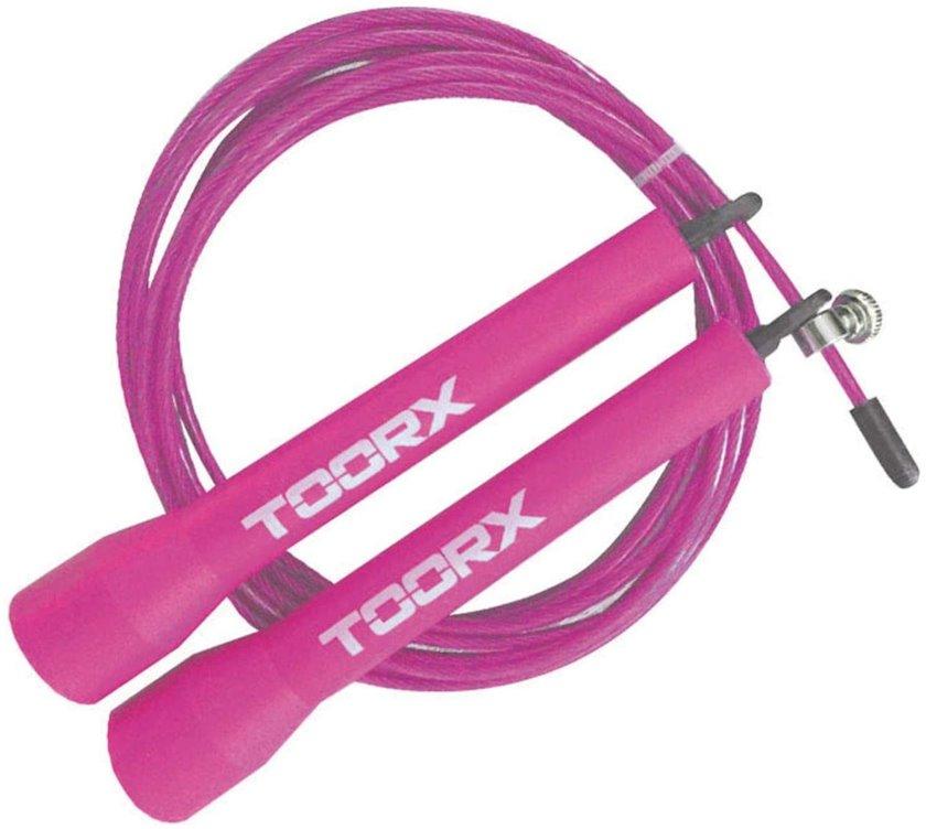 İpatdı plastik tutacaqları ilə Toorx Skipping Fast Steel, Uniseks, Çəhrayı