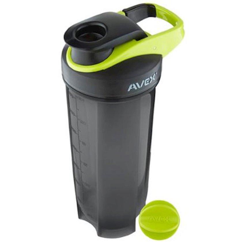 Şeyker Avex AV1000-0827-1 Shaker Bottle, qara-yaşıl, plastik, 0.828 l