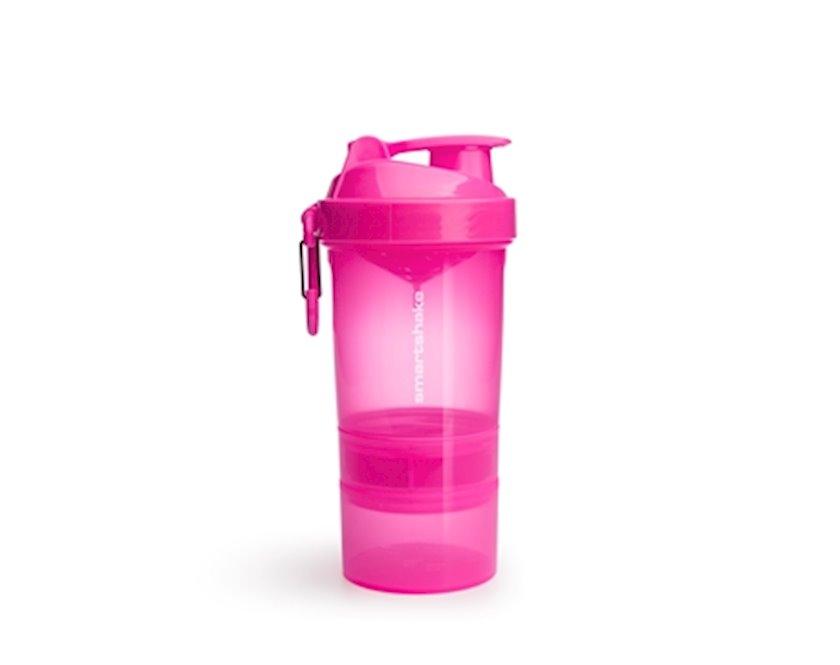 Şeyker Smartshake 10560501 -1 Shaker Bottle Original2Go, neon-çəhrayı, plastik, 0.6 l