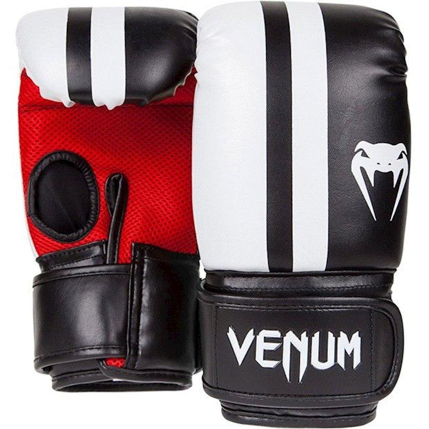 MMA əlcəyi Venum ELITE BAG GLOVES, uniseks, qara/ağ/qırmızı, ölçü M