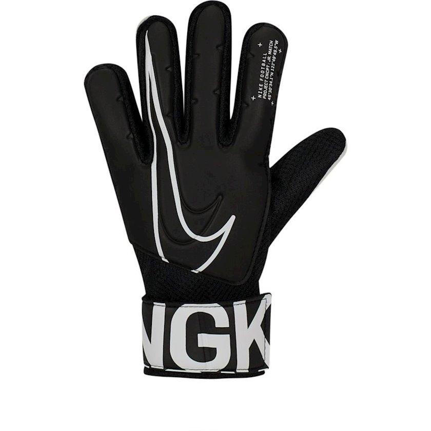 Qapıçı əlcəkləri Nike JR GK Match FA19 GS3883, Uşaqlar üçün, Qara/Ağ, Ölçü 7