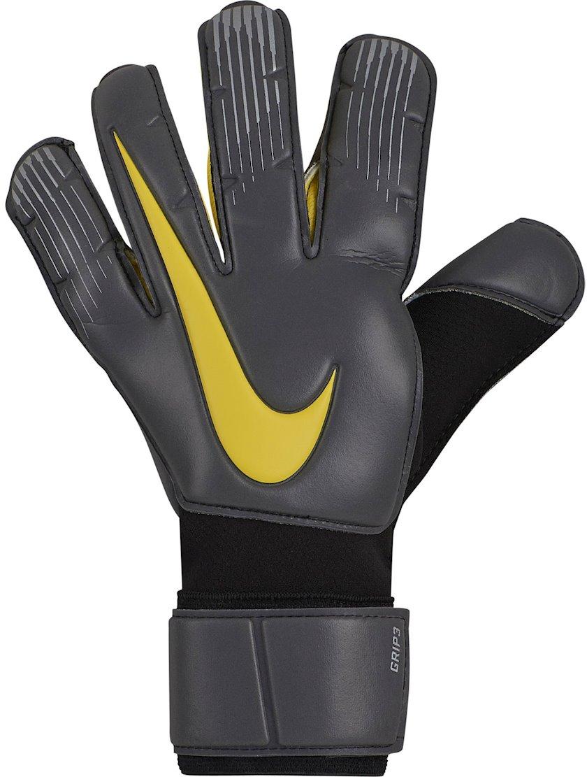 Qapıçı əlcəkləri Nike GK Grip 3 GS0360, Uniseks, Boz/Sarı, Ölçü 10
