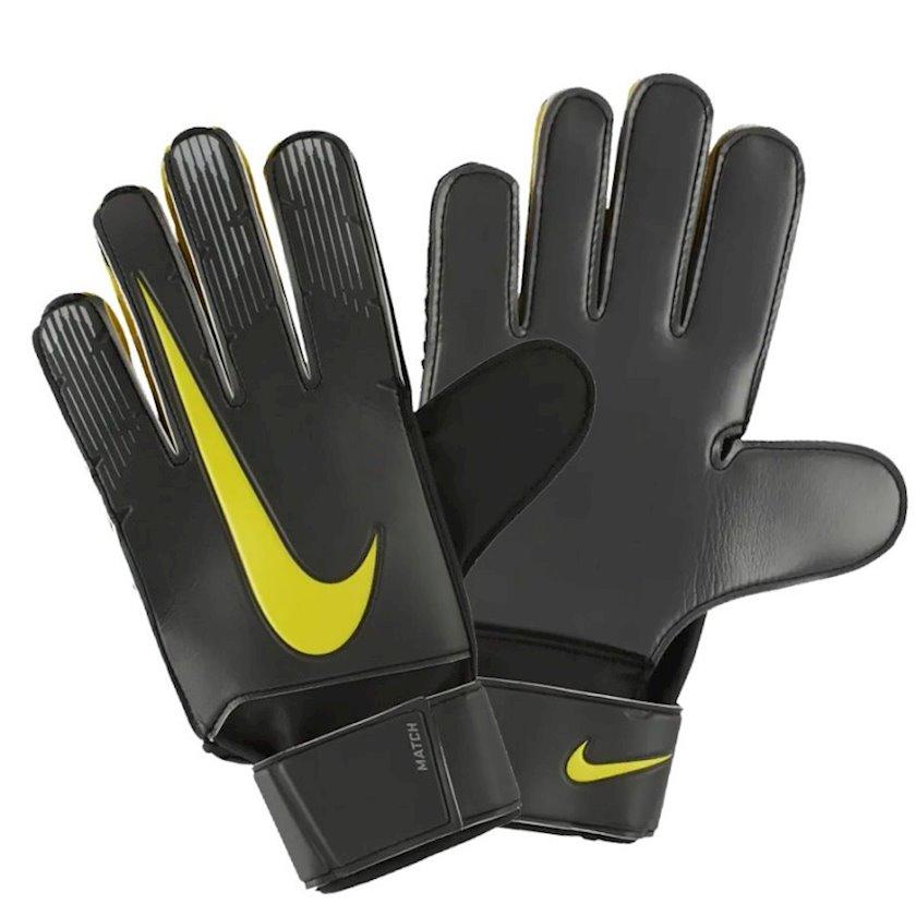 Qapıçı əlcəkləri Nike GK Match FA18 GS3370, Uniseks, Boz/Sarı, Ölçü 11