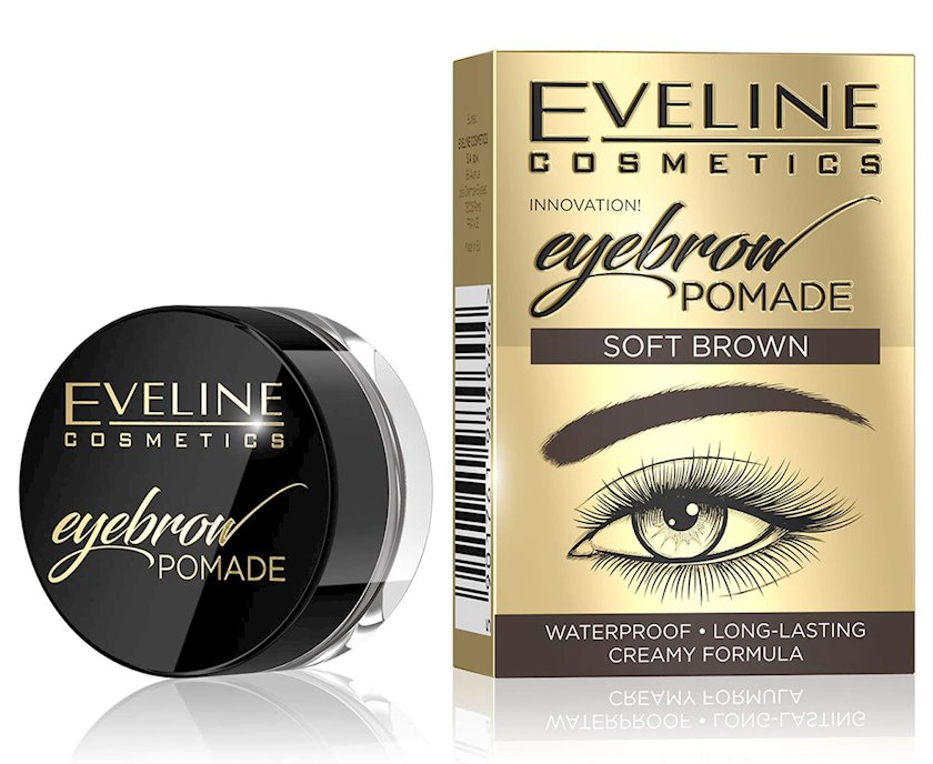 Pomada qaşlar üçün Eveline Eyebrow Pomade Soft Brown 4 q