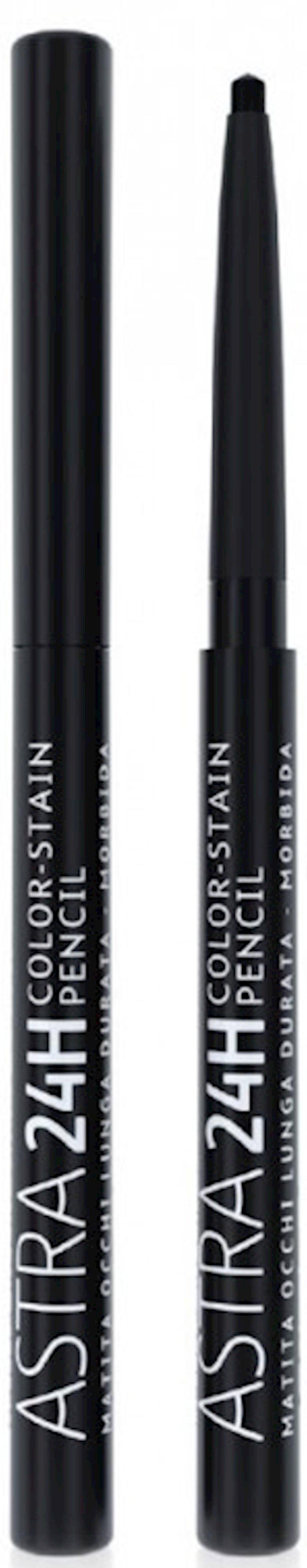 Göz üçün qələm Astra Make-Up 24H Color Stain Pencil Black 1.2 q