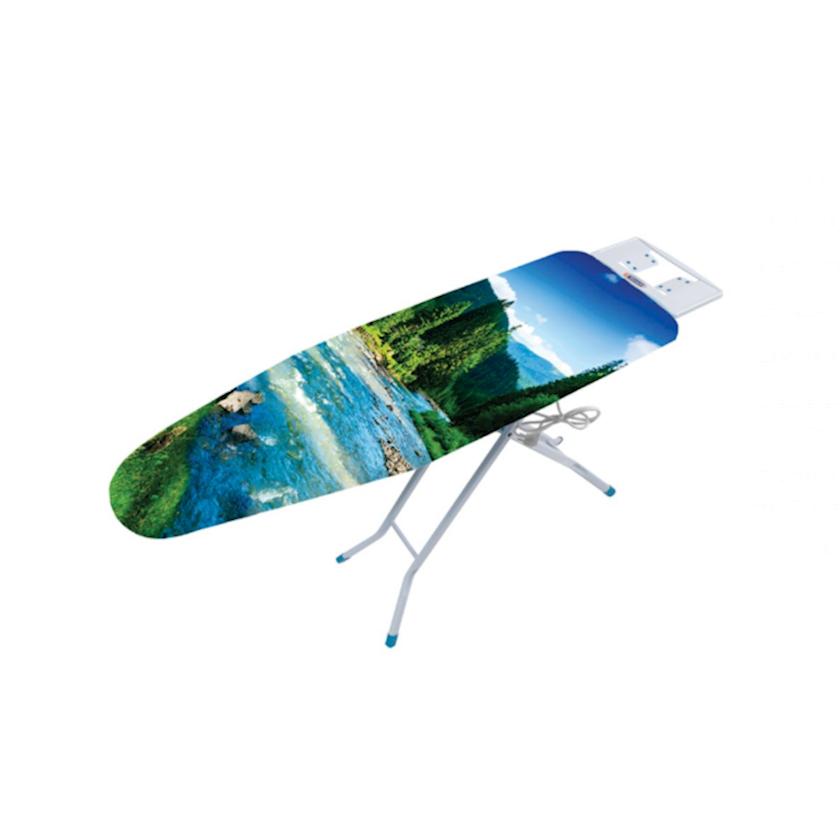 Ütü masası Sarayli New Elegant 2209, 60-90 sm qədər avtomatik tənzimlənən hündürlük, üst səthi monoblok polad, rəngli örtük ilə