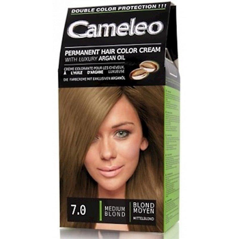 Saç üçün krem-boya Delia Cosmetics Cameleo arqan yağı ilə ton 7.0 orta sarışın 50 ml