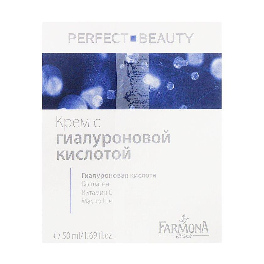 Nəmləndirici krem üz üçün Farmona Perfect Beauty hialuron turşusu və kollagen ilə 50 ml
