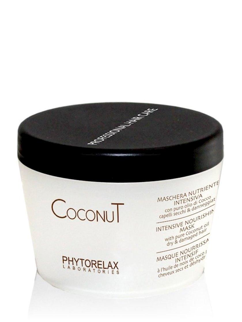 Nəmləndirici intensiv saç maskası Phytorelax Laboratories Coconut oil hair care 250 ml