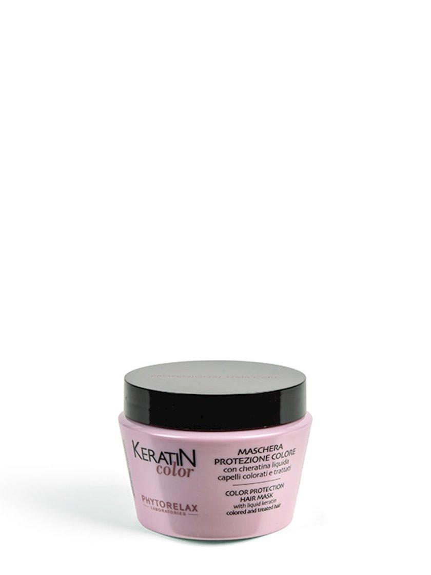 Boyanmıs saçlar üçün maska Phytorelax Laboratories Keratin Color Protection Hair Mask 250 ml